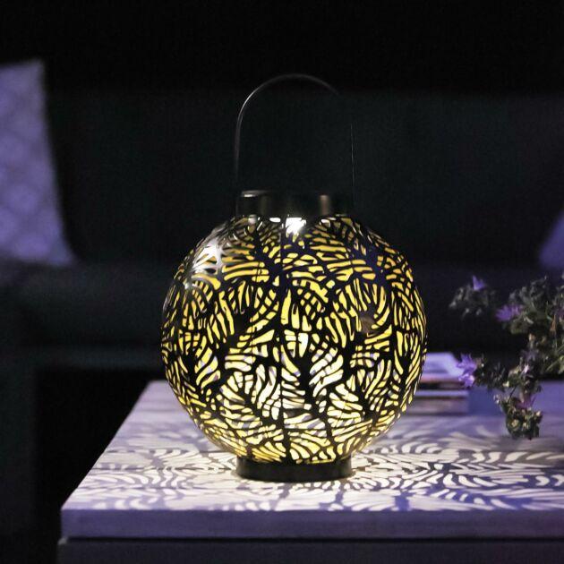 Solar Black Samba Table Lantern