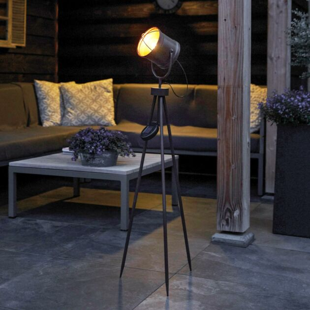 Solar Copper Industrial Tripod Studio LED Light