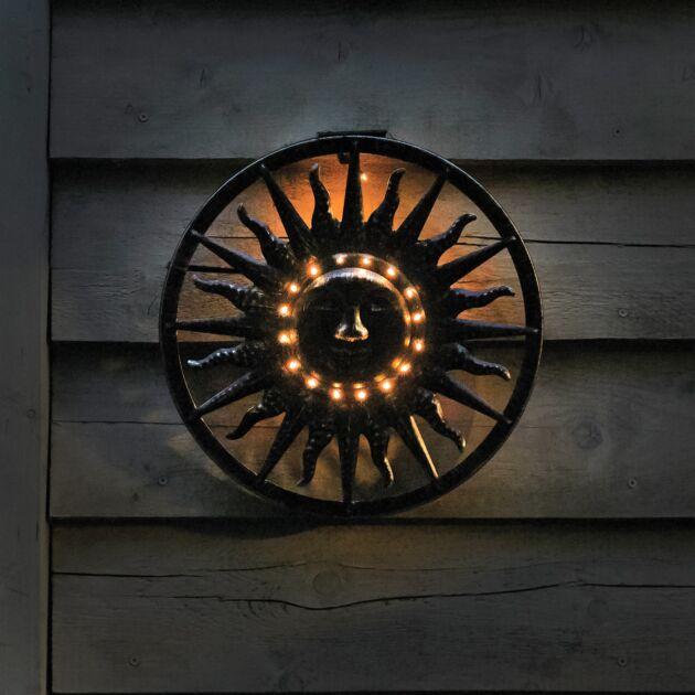 Solar Sun Wall Ornament