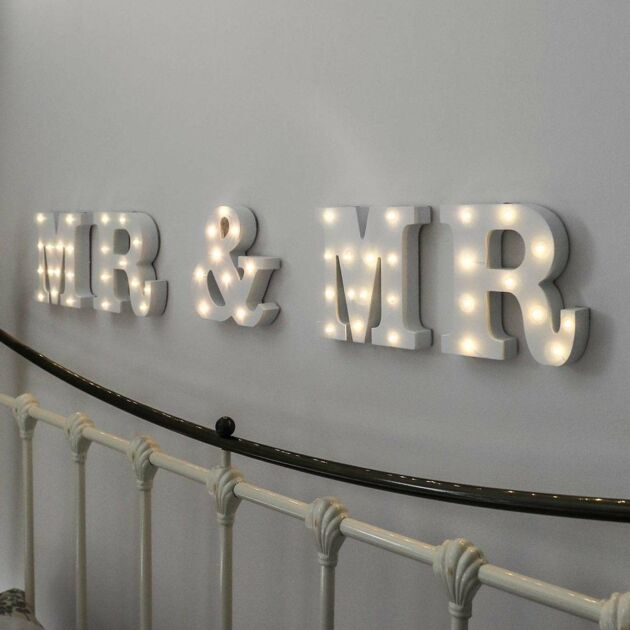 Mr & Mr Battery Light Up Circus Letters, Warm White LEDs