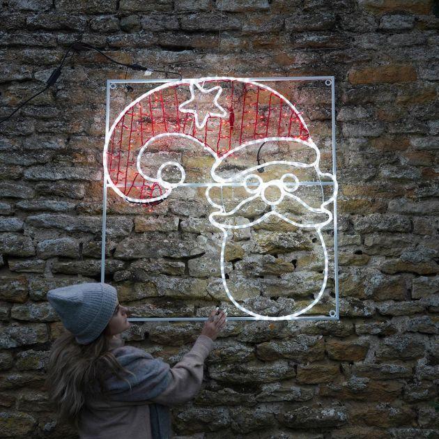 1.1m Large Outdoor Santa Motif, Twinkle LEDs