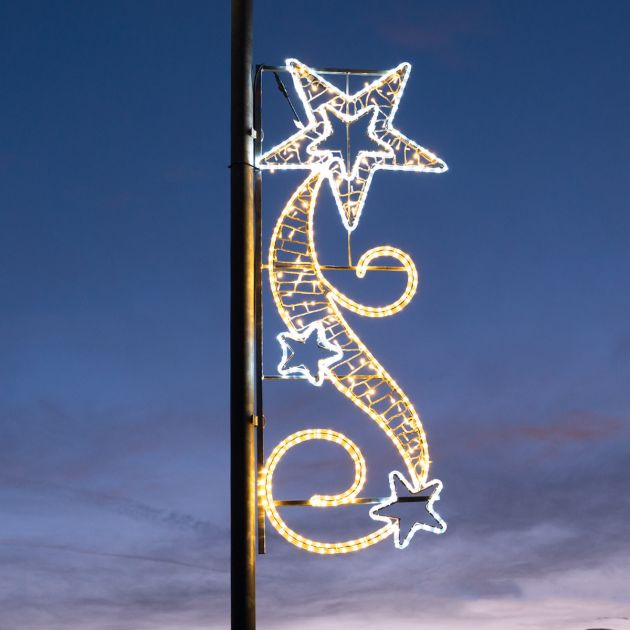 1.7m Outdoor Rope Light Commercial Shooting Star Motif, Twinkle LEDs