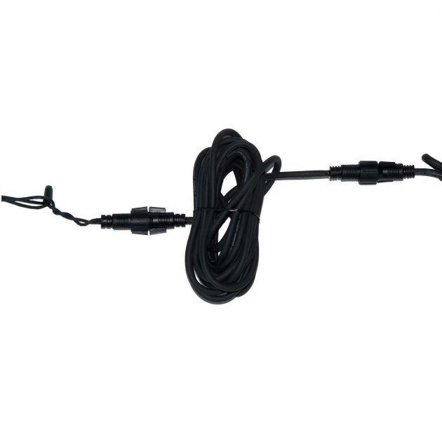 5m Festoon Pro Black Extension Lead, Connectable