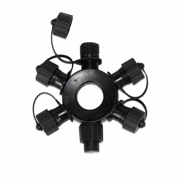 5 port Black Ring Connector, Connectable