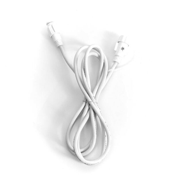 2m White Extension Lead, Connectable