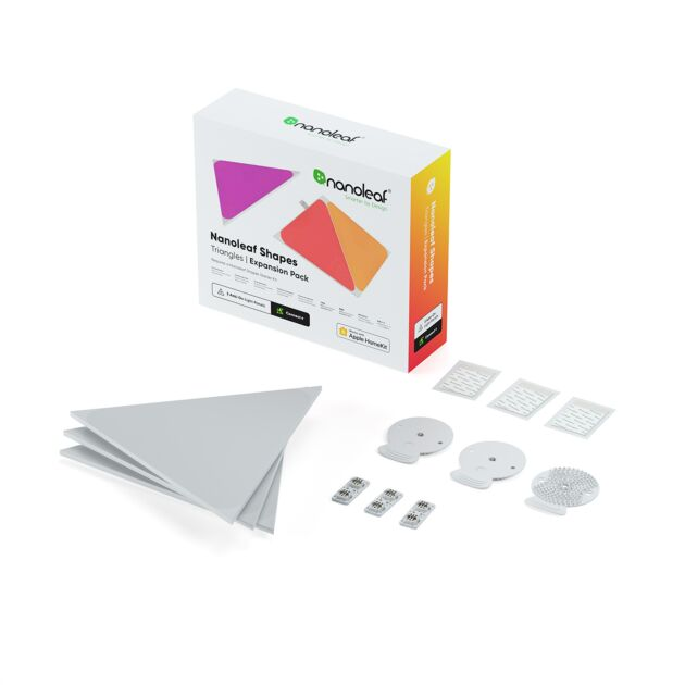 Nanoleaf Shapes Triangles Extension Kit - 3 Light Panels