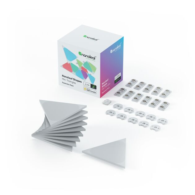 Nanoleaf Shapes Triangles Mini Extension Kit - 10 Light Panels
