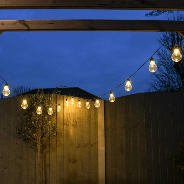 Outdoor Plug In A60 Warm White LED Festoon Lights
