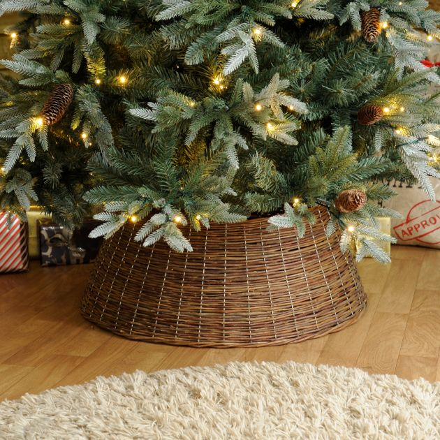 50cm x 70cm Natural Willow Christmas Tree Skirt