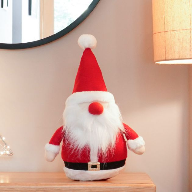 35cm Red and White Santa Gonk