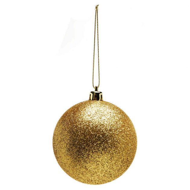 10cm Glittered Shatterproof Christmas Tree Bauble
