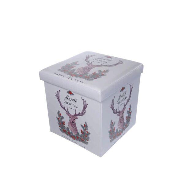 38cm Foldable Reindeer Christmas Storage Box