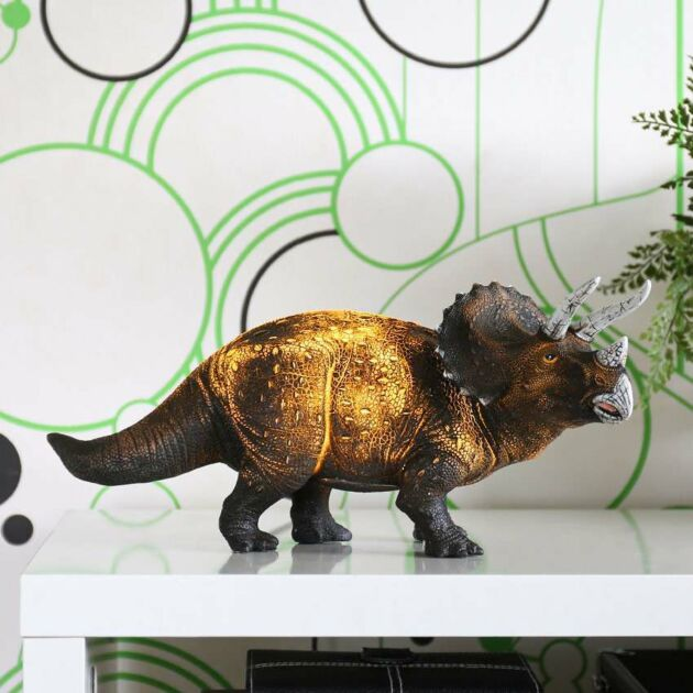 34cm Triceratops Dinosaur Children's Night Light