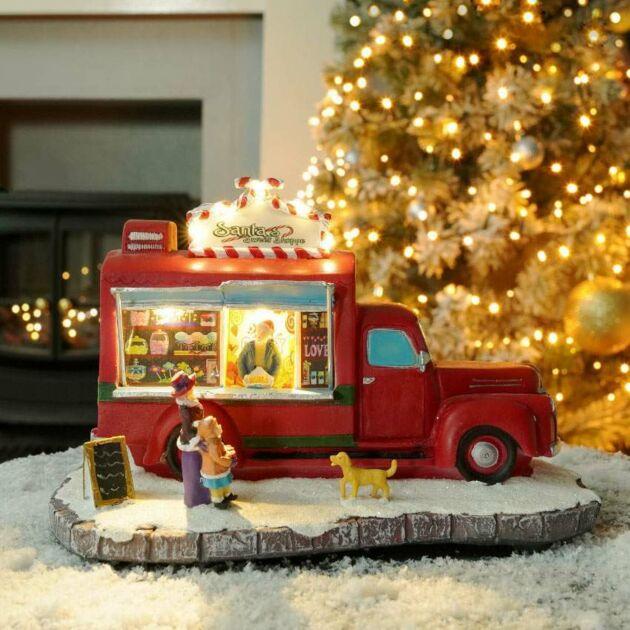 23cm Battery LED Christmas Santa Car