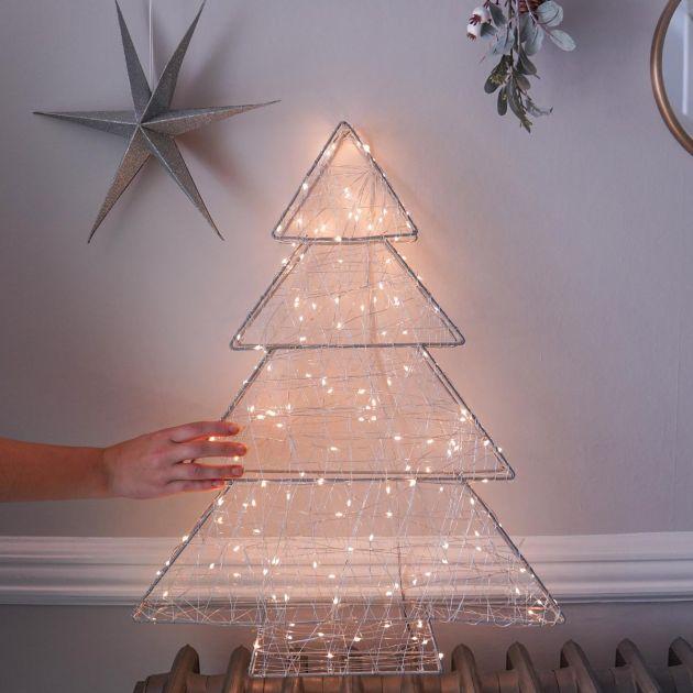 Hanging Firefly Christmas Tree Decoration, Warm White Twinkling LEDs