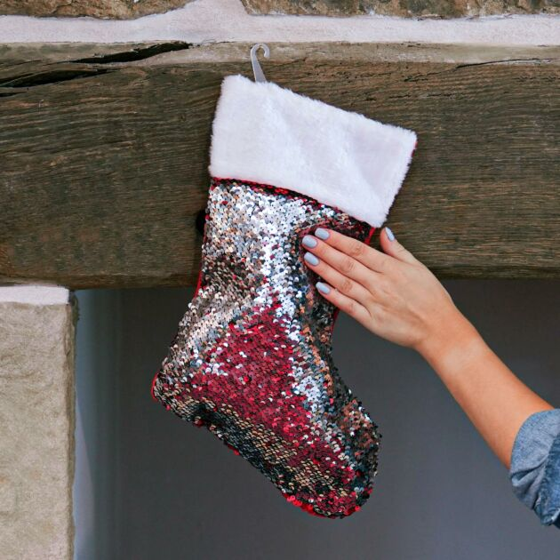 46cm Sequin Stocking Christmas Decoration