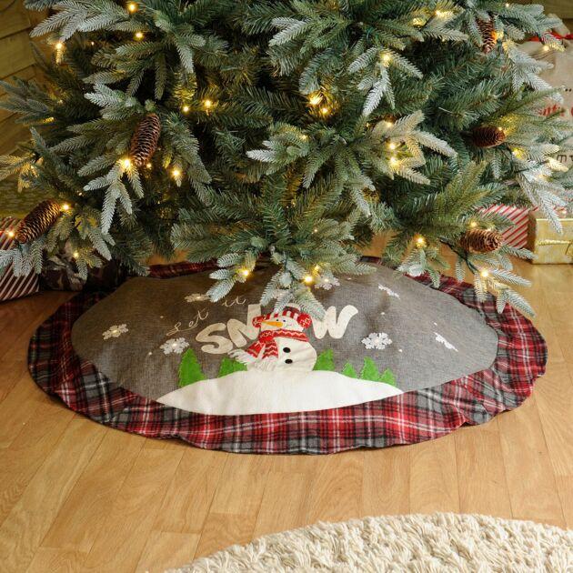 1.2m Battery Let it Snow LED Christmas Tree Skirt