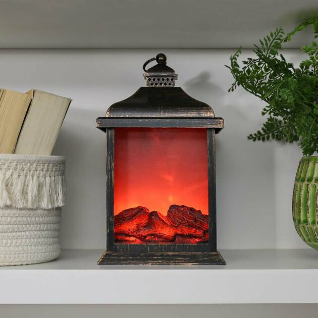 27cm Battery Flickering Fire Flame Lantern