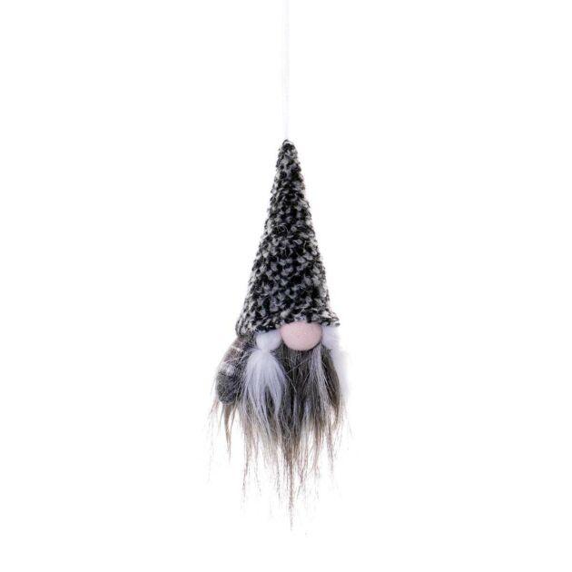 13cm Female Dark Grey Fur Hanging Gonk