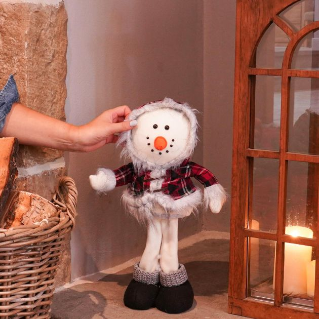 42cm Snowman Standing Big Head Pal