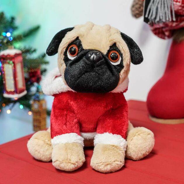20cm Sitting Plush Pug