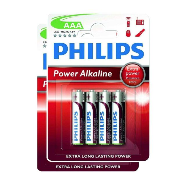 Philips Power Alkaline AAA Batteries (Pack of 8)