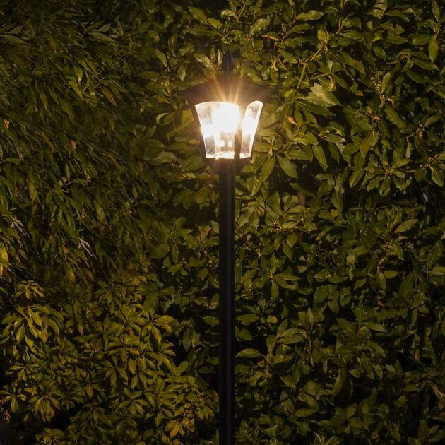 Solar Filament Effect LED Security Lamp Post, 2.1m