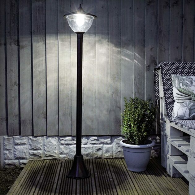 Solar Dome Security Lamp Post, 1.2m