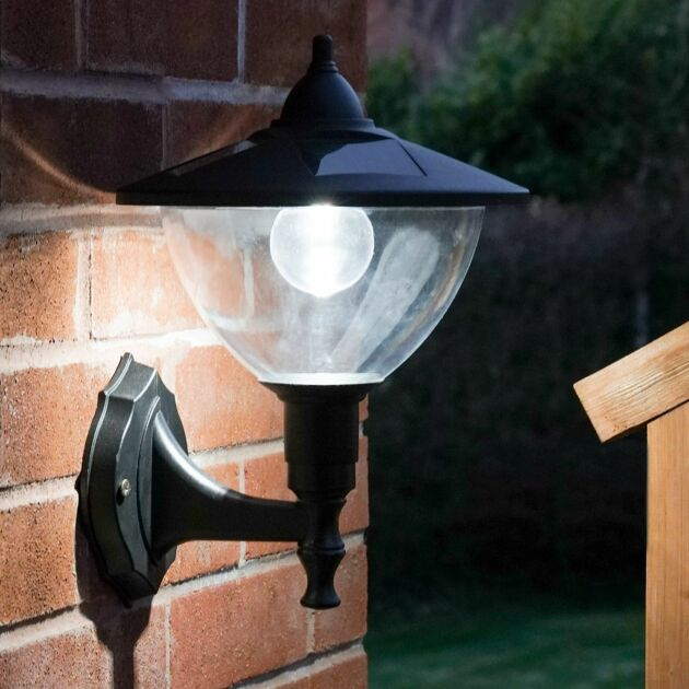 Outdoor Solar Dome Security Wall Light