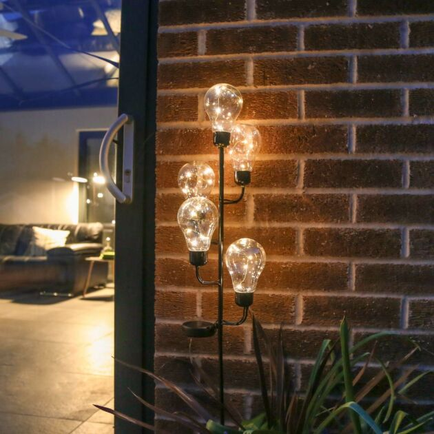 Solar Warm White Festoon Stake Light
