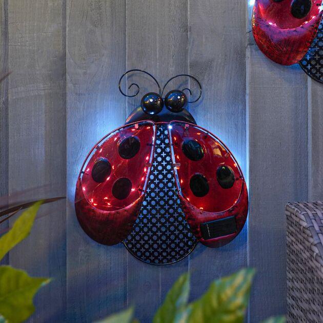 Solar Ladybird Fence Decoration