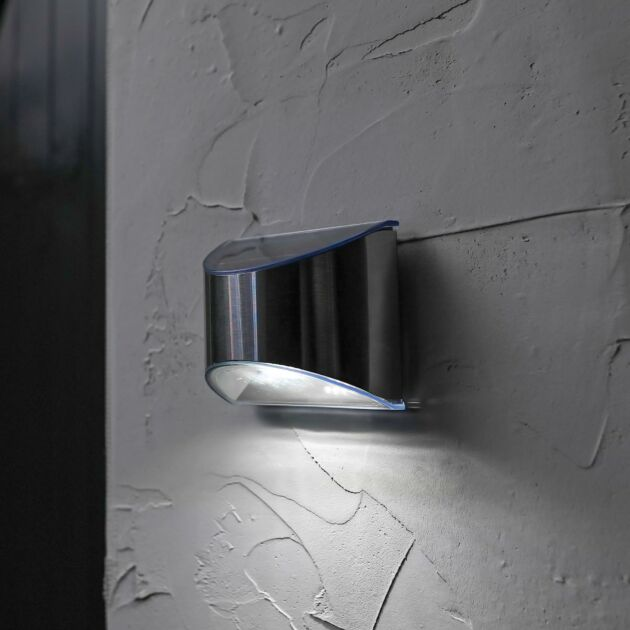 Solar Stainless Steel Welcome Wall Light