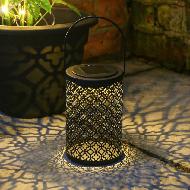 Solar Black Metal Lantern