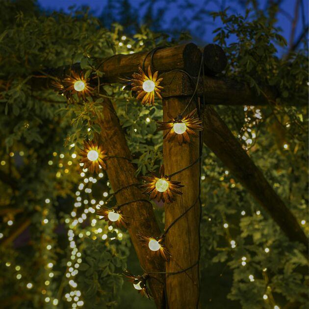 Solar Metal Flower Fairy Light