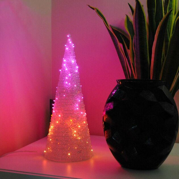 Smart App Controlled Twinkly LED Table Top Christmas Cone