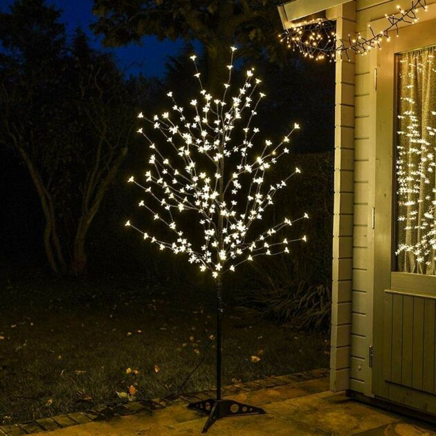 6ft Outdoor Blossom Tree, Warm White LEDs