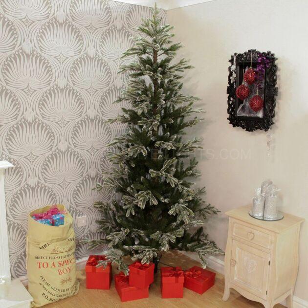 7ft PE Snow Tipped Pine Christmas Tree