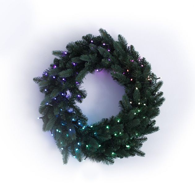 60cm Smart App Controlled Twinkly Christmas Wreath, Special Edition - Gen II