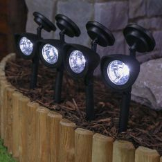 Super Bright Solar Spot Lights, 4 Pack