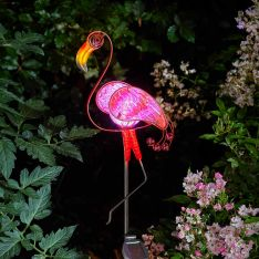 Solar Flamingo Stake Light