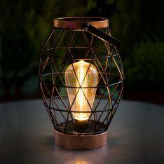 25cm Outdoor Battery Geo Lantern