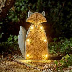 Solar Novelty Woodstone Fox Light