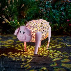 Solar Novelty Delilah the Pig Light