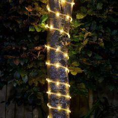Solar Rope Light, Warm White 100 LEDs