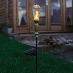 80cm Outdoor Solar Festoon Stake with Wire Lights