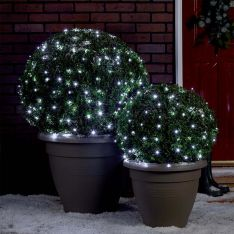 20m Outdoor Battery Fairy Lights, Green Cable