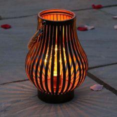 Outdoor Bronze Battery Lantern