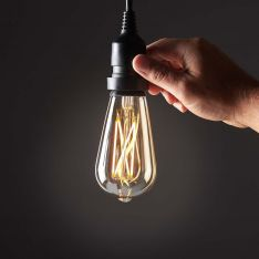 4W E27 Fully Dimmable Vintage Tinted Teardrop Filament Style, Warm White LED Light Bulb