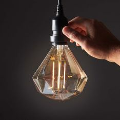 4W E27 Fully Dimmable Vintage Tinted Diamond, Warm White LED Light Bulb