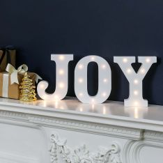 Joy Battery Light Up Circus Letters, Warm White LEDs